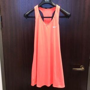 Neon Orange Nike dress